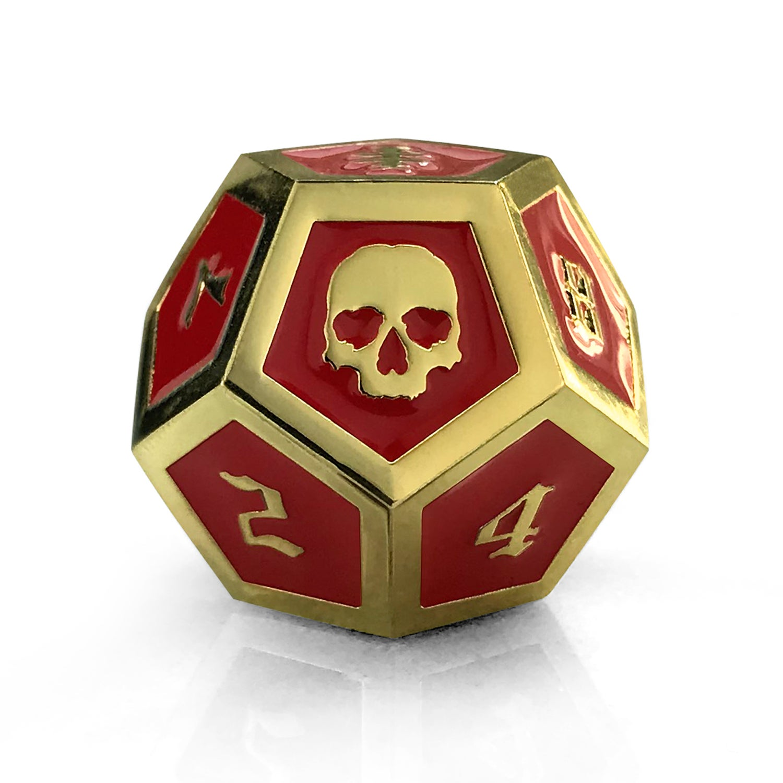Image of Red & Gold Die
