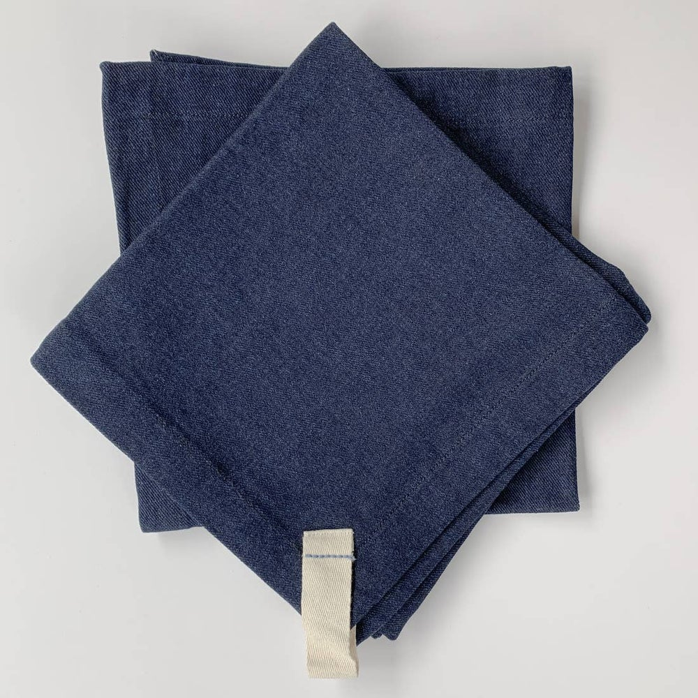 Image of Heirloom Set of 4 Denim Napkins