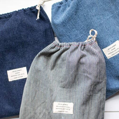 Image of Heirloom-Set of 4 Denim Napkins