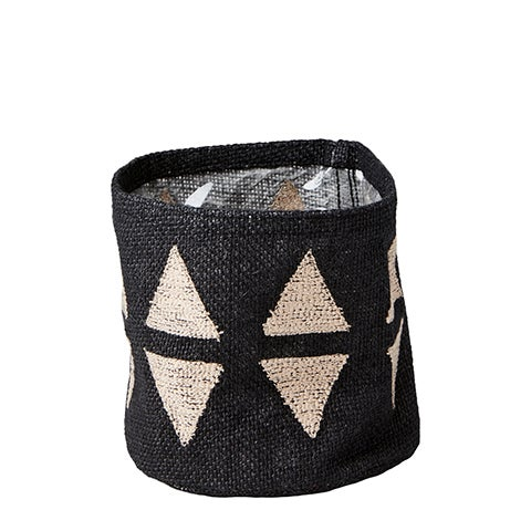 Image of BLACK JUTE POT