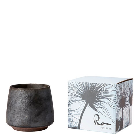 Image of CHARCOAL SCENTED CANDLE -  Indo teak