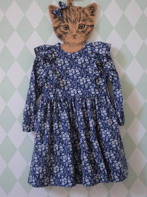 Image of Robe en liberty capel bleu marine