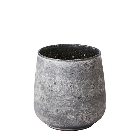 Image of GREY ANTIQUE LOOK TEALIGHT HOLDER