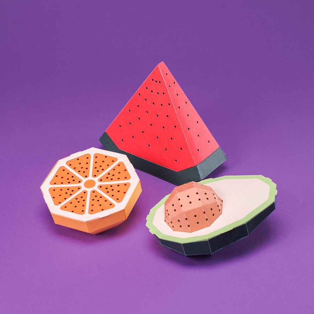 Image of D.I.Y. PAPER KIT SET with BLUETOOTH SPEAKER - FRUIT SET