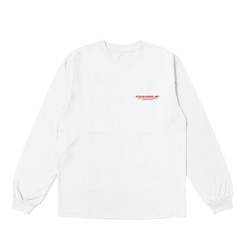 Image of 'TEMPLE OF HEALTH' LONG SLEEVE IN WHITE