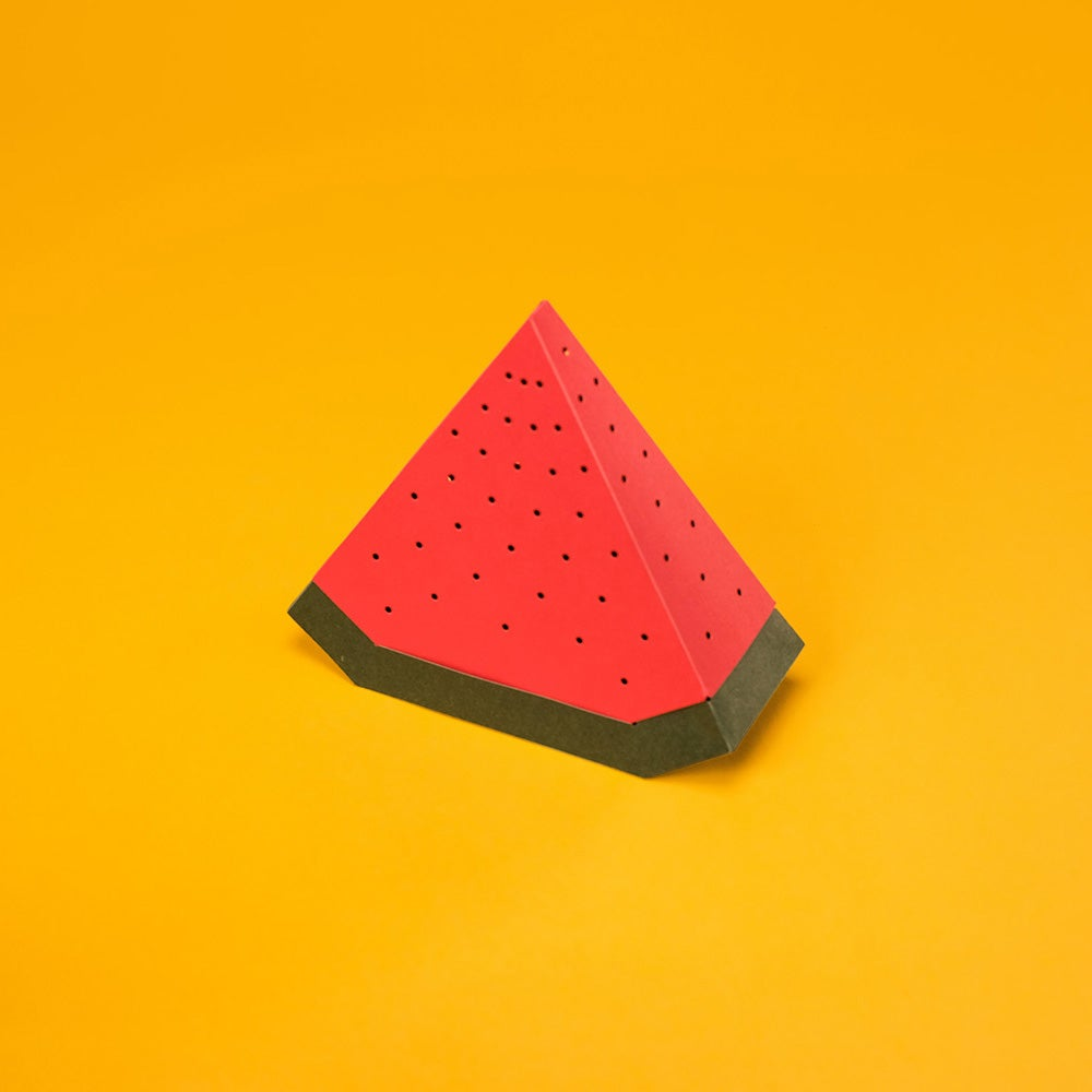 Image of D.I.Y. PAPER KIT SET WITH BLUETOOTH SPEAKER - WATERMELON