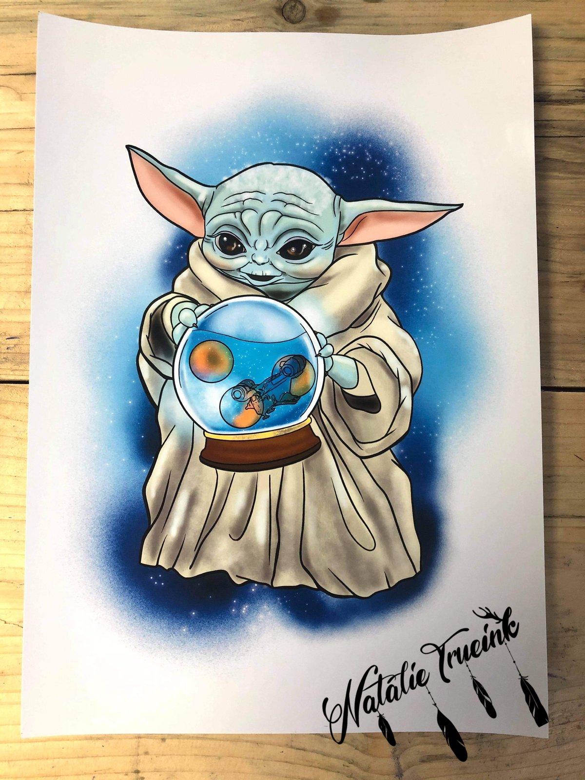 The Child Baby Yoda  A4 Print