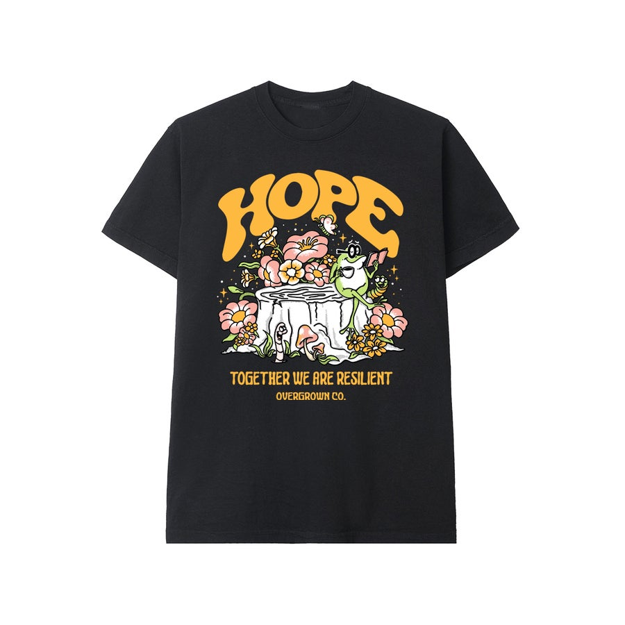 Image of 'HOPE' TEE IN BLACK