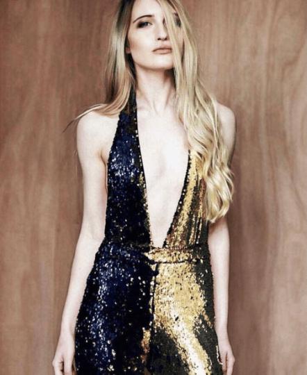Image of Gold Flip Sequin Jumpsuit