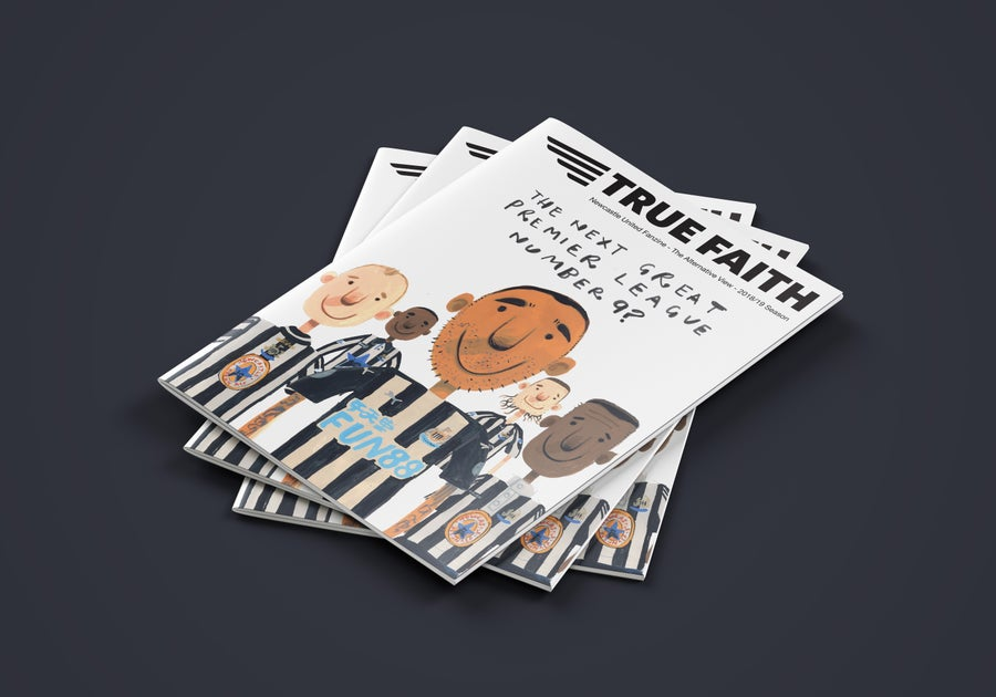 Image of 5 x DIGITAL ISSUES OF TRUE FAITH NEWCASTLE UNITED FANZINE