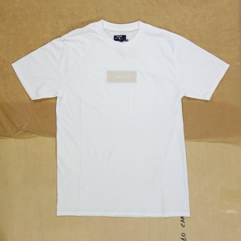 Image of Box Logo Custom T-Shirt (White Dior)