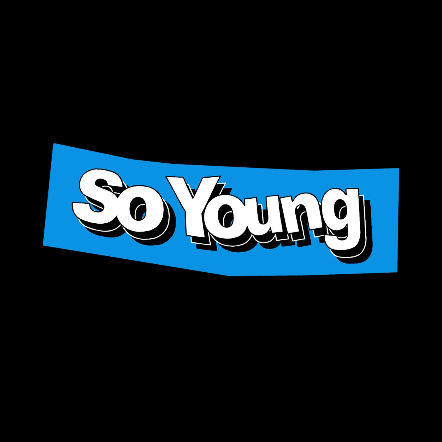 Image of So Young Black Collage Tee