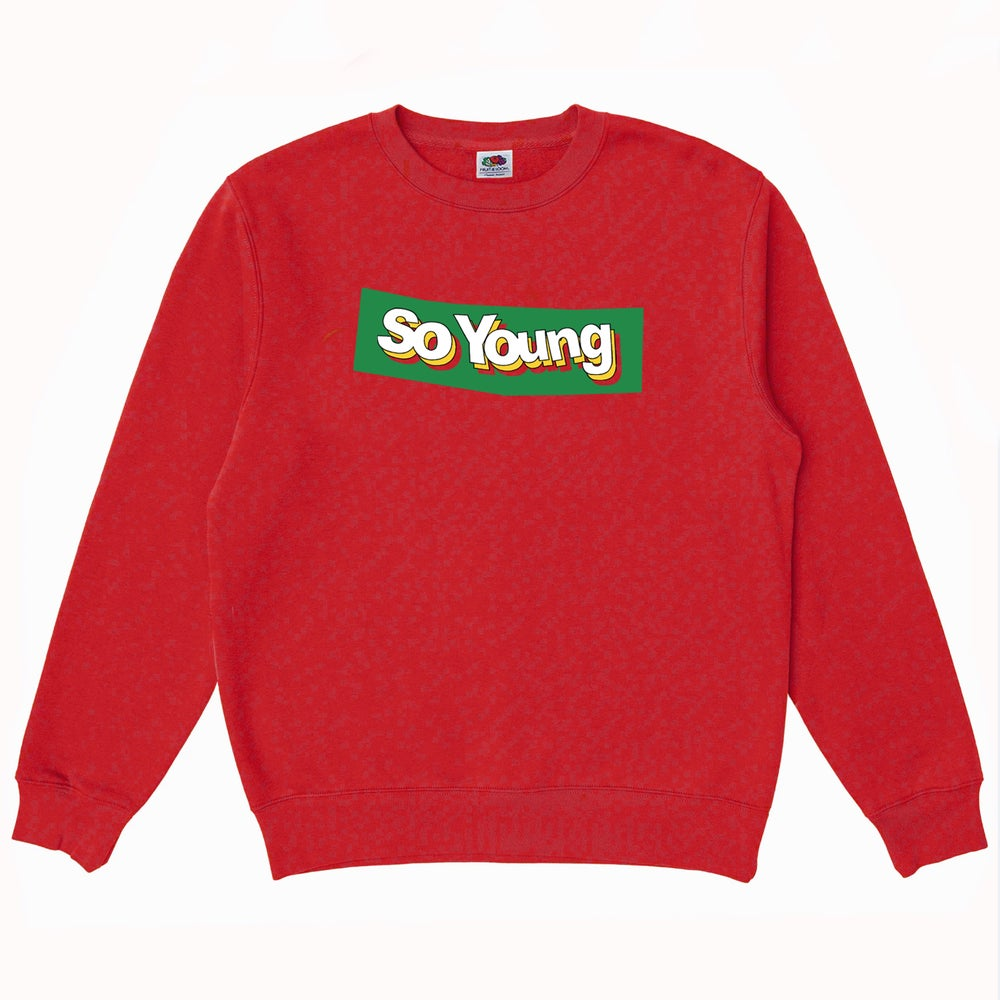 Image of So Young Red Block Logo Sweatshirt