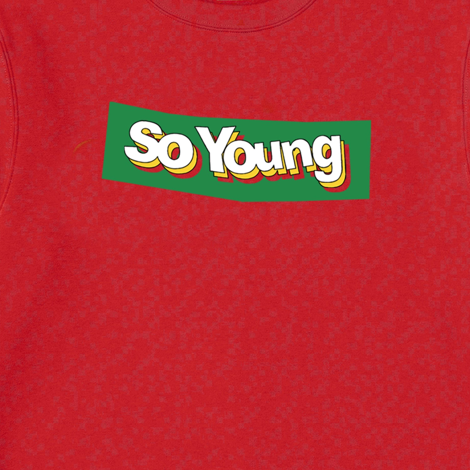 Image of So Young Red Block Logo Sweatshirt PRE ORDER