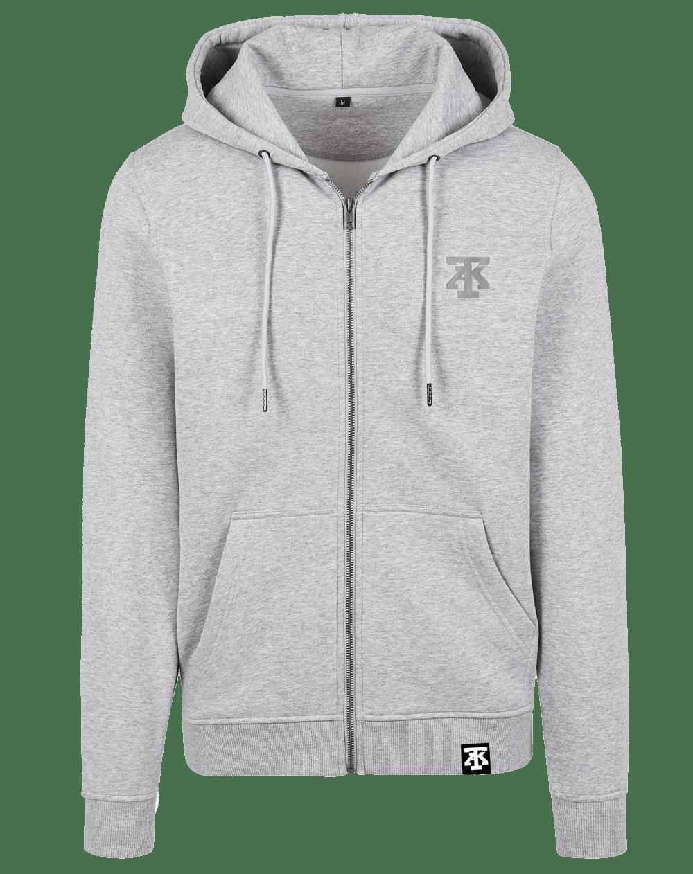 TAK Zip Hoodie Sweatshirt Grey