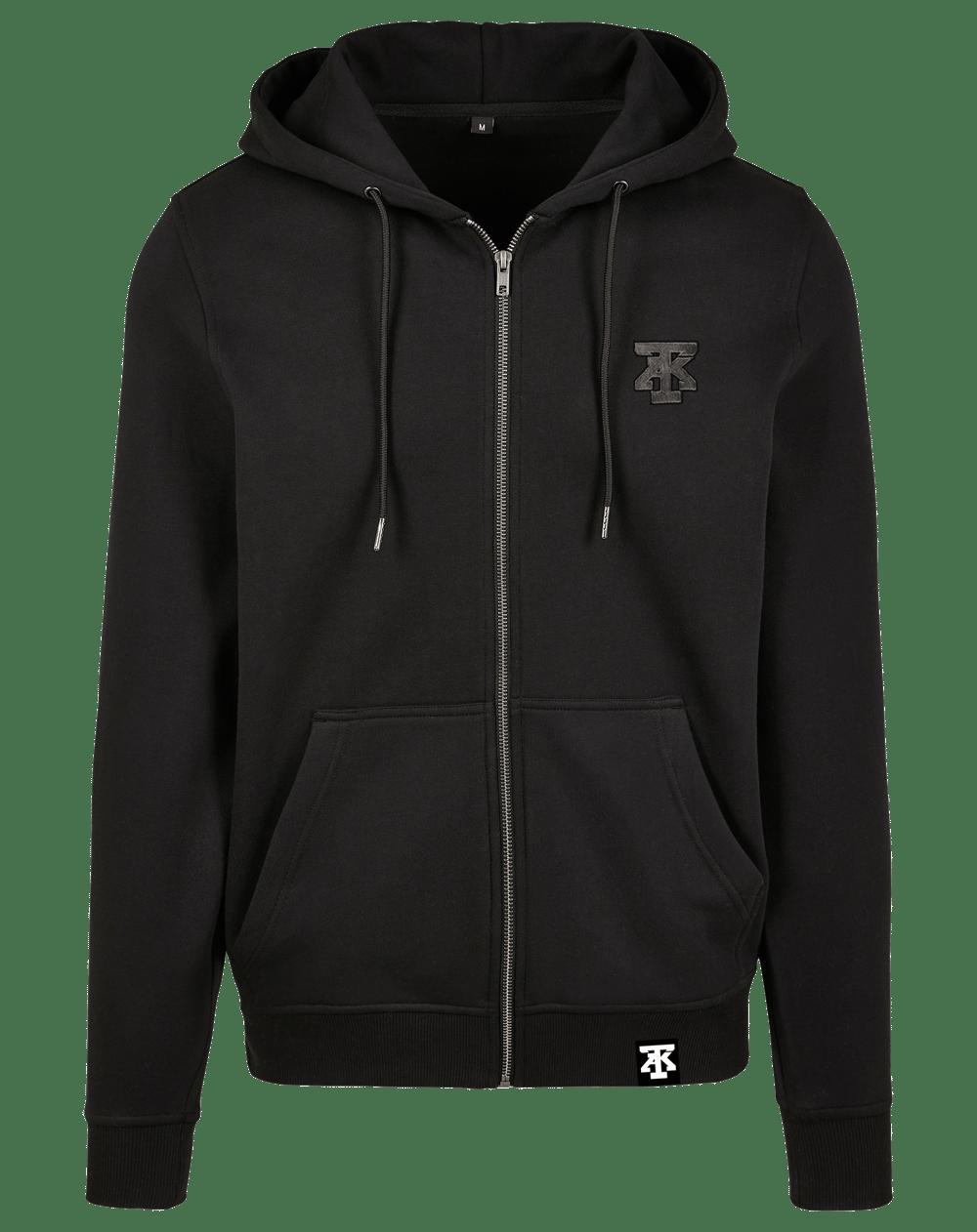 TAK Zip Hoodie Sweatshirt Black