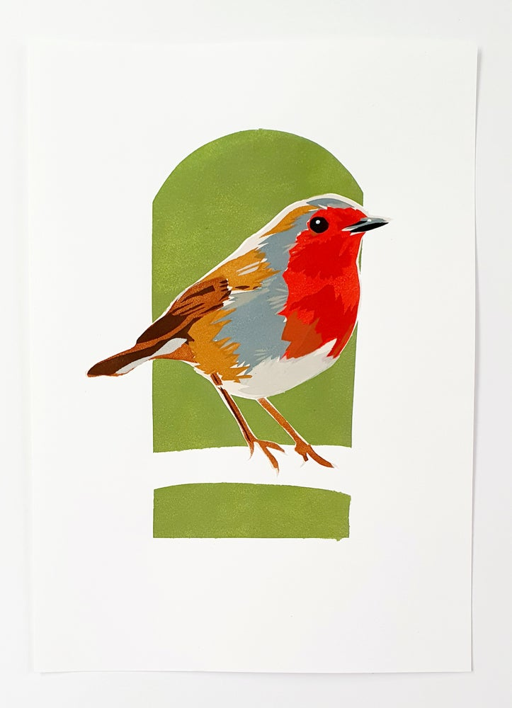 Image of Robin Print - Green