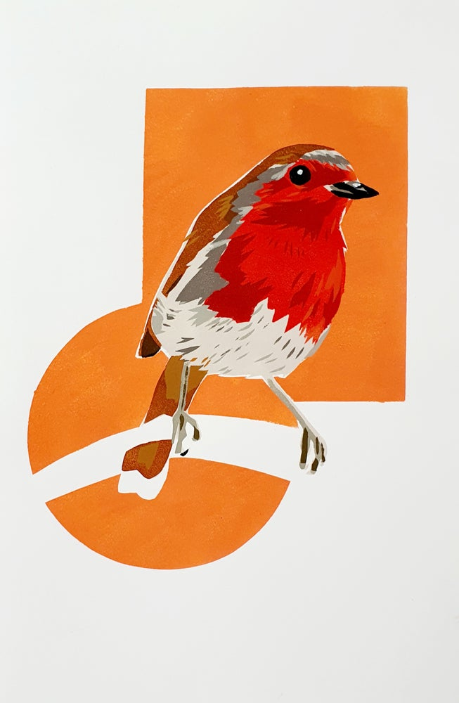 Image of Robin Print - Orange