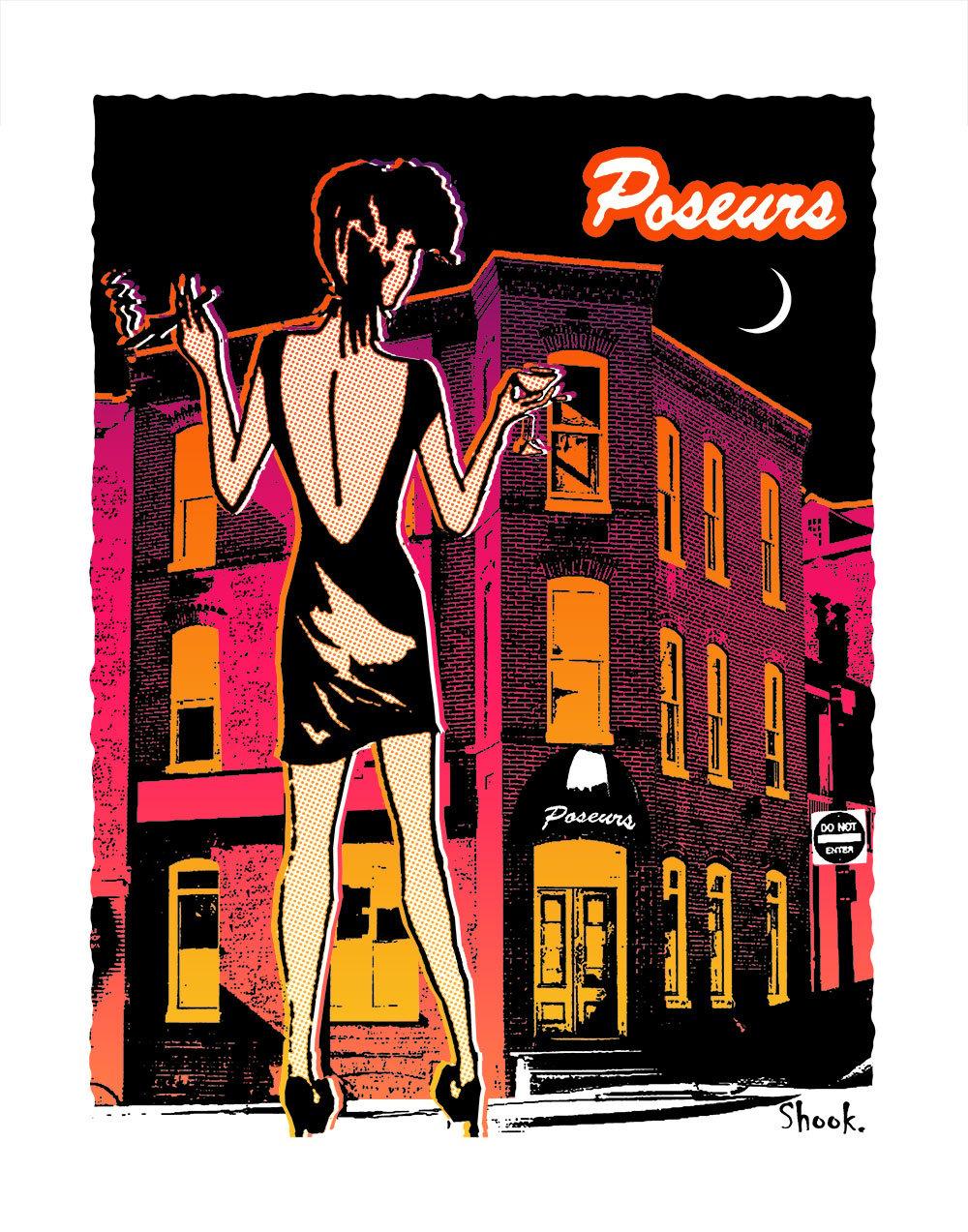 """Poseurs Georgetown Giclée Art Print - 11"""" x 14"""""""