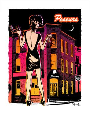 "Image of Poseurs Georgetown Giclée Art Print - 11"" x 14"""