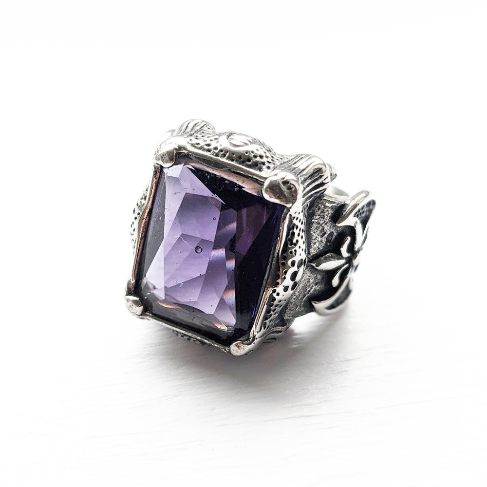 Image of Purple Coffin Rock Ring