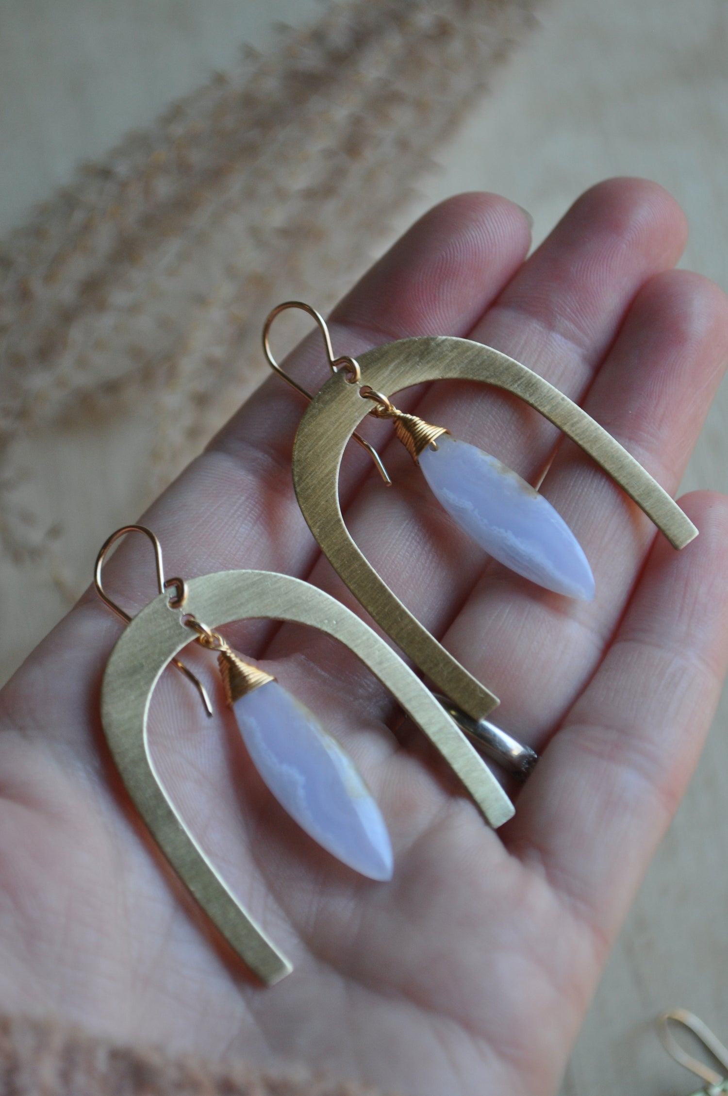 Image of The Rambler Dangles in Blue Lace Agate OOAK