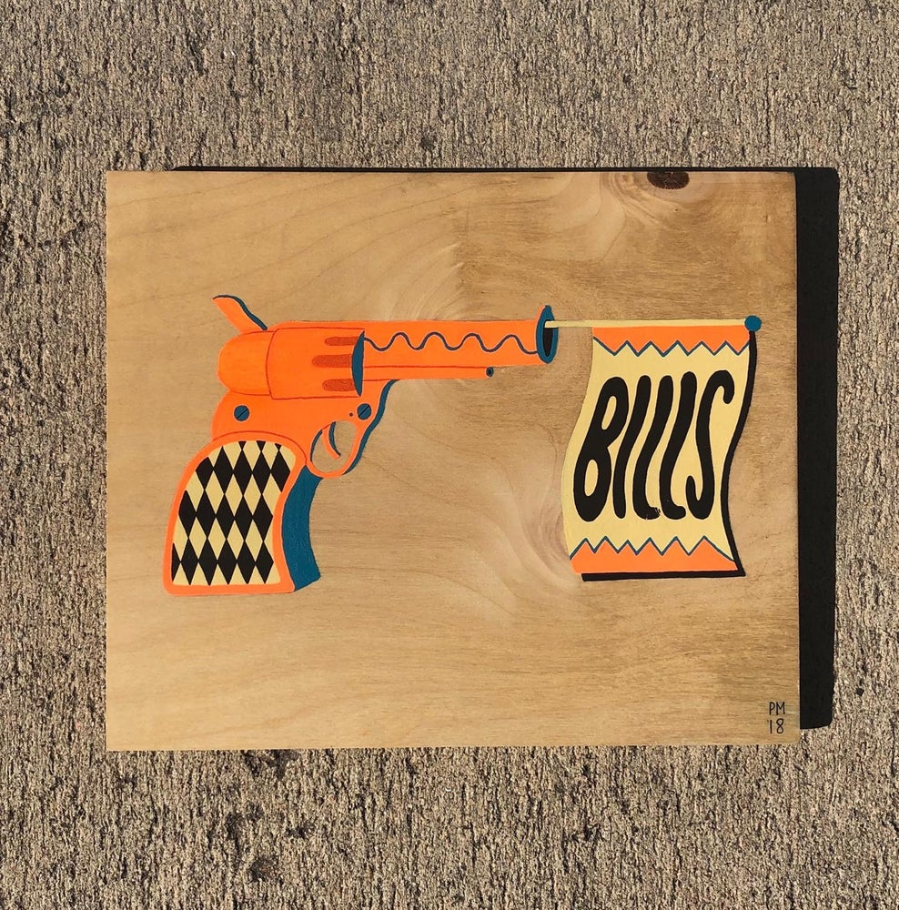 Image of ' Bills ' Wood Painting