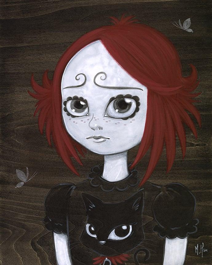 Ruby Gloom and Doom kitty Original Painting by Martin Hsu