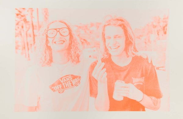 Image of Daniel Lutheran and Axel Cruysberghs lipstick and glasses