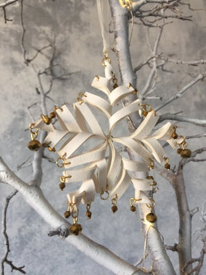 Image of Set of 3 snowflake decorations