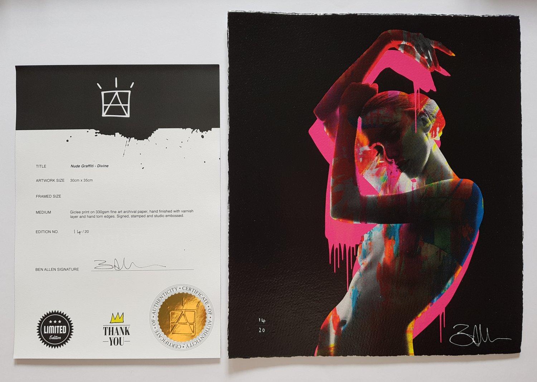 "Image of BEN ALLEN - ""NUDE GRAFFITI"" - PRINT LTD EDITION 20 - 30CM X 35CM"