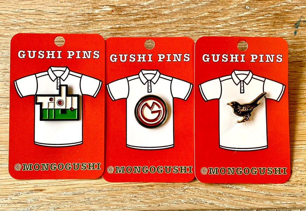 Mongo Gushi enamel pin badge. - now available!