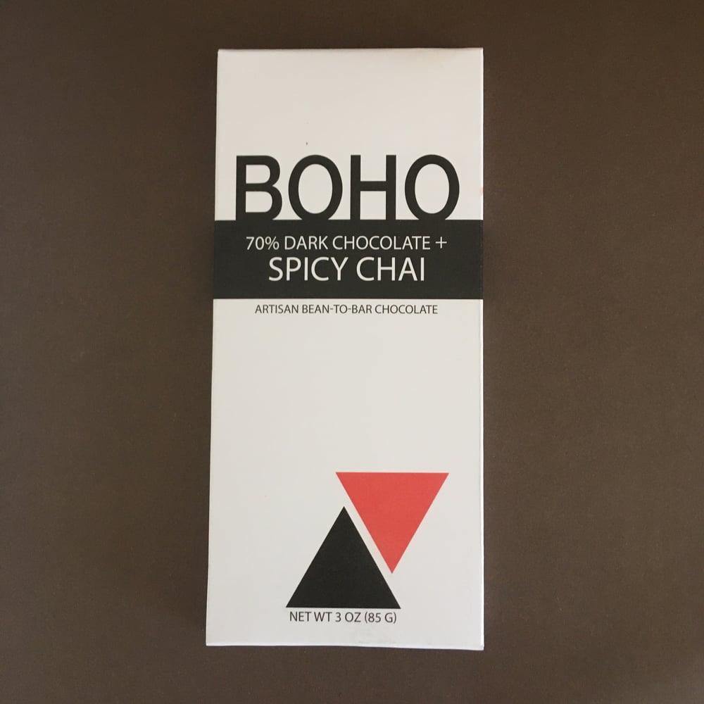 Image of Boho Chocolate 70% Dark Chocolate + Spicy Chai Bar