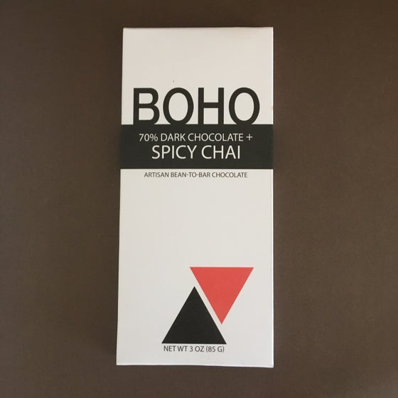 Image of Boho Chocolate 70% Dark Chocolate + Spicy Chai Bar
