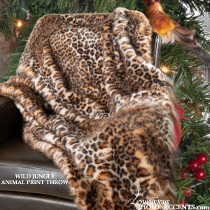 Image of Wild Jungle Animal Print Throw