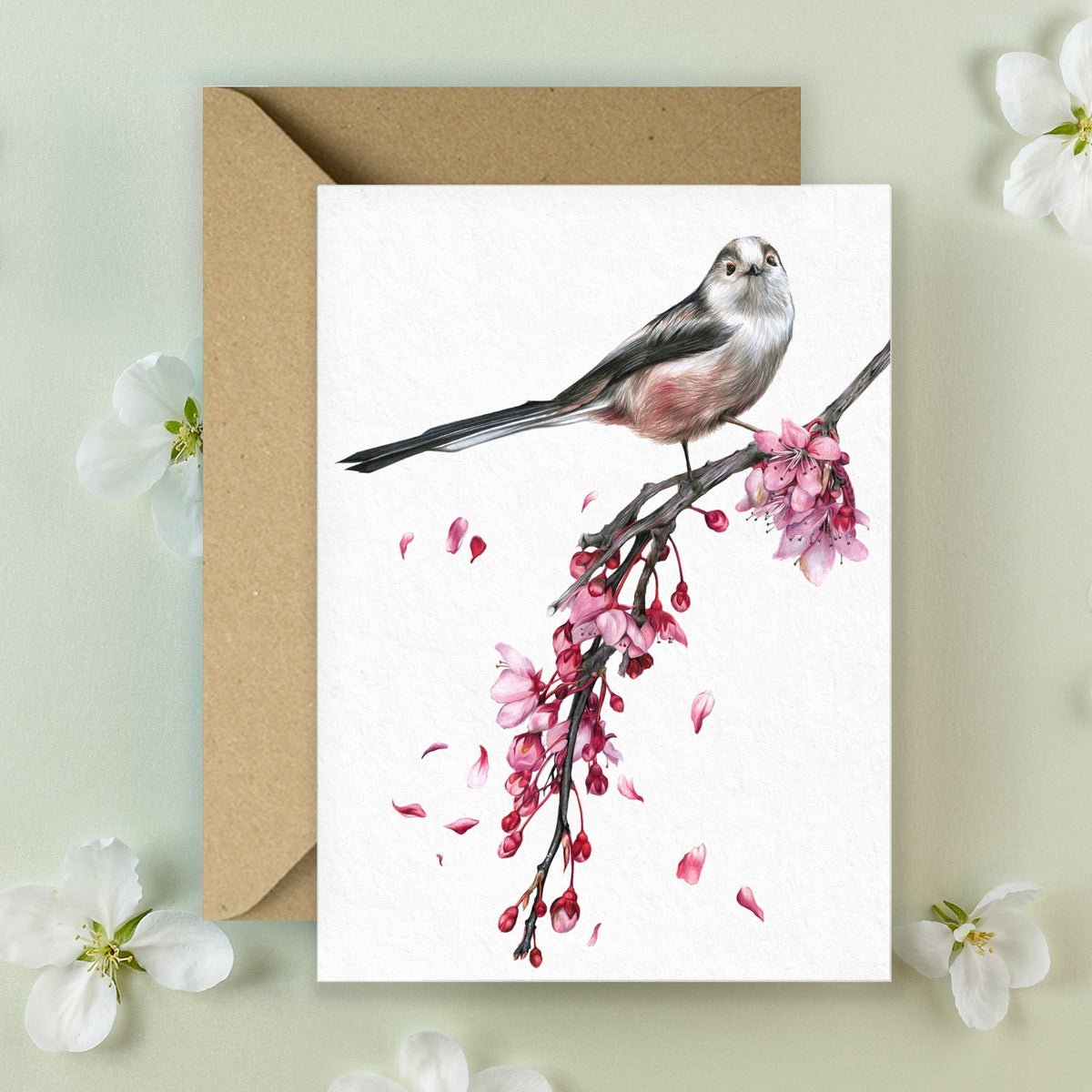 Image of Long Tailed Tit - Greeting Card