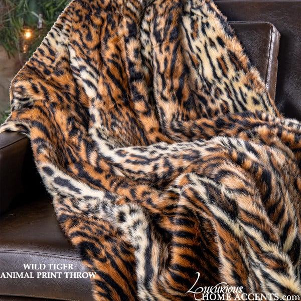 Image of Wild Tiger Animal Print Throw