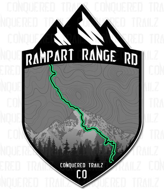 "Image of ""Rampart Range Rd"" Trail Badge"