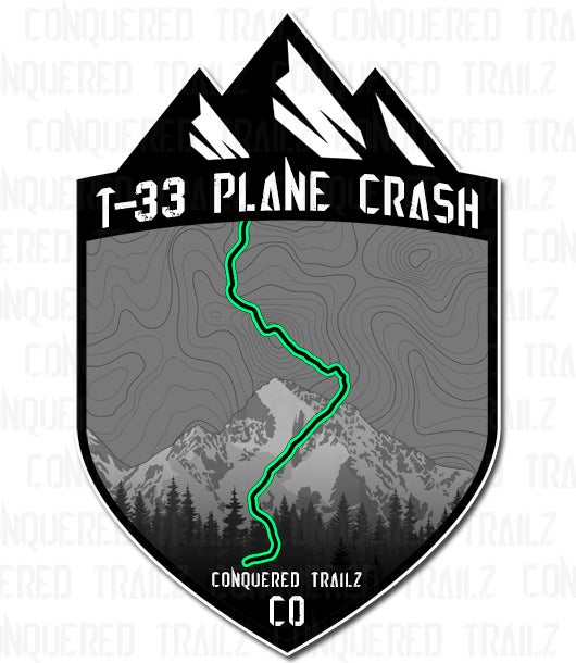 "Image of ""T-33 Plane Crash"" Trail Badge"