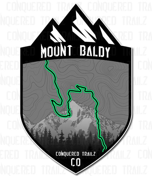 "Image of ""Mount Baldy"" Trail Badge"