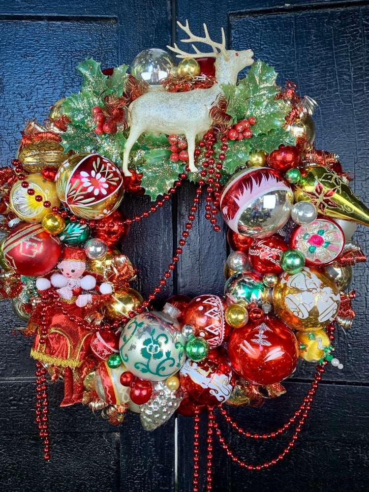 Image of The Holly and the Reindeer Wreath