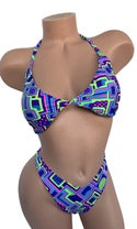Abstract Thong Bikini Set