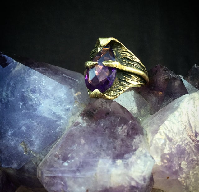 Image of Thin Air Ring with Amethyst