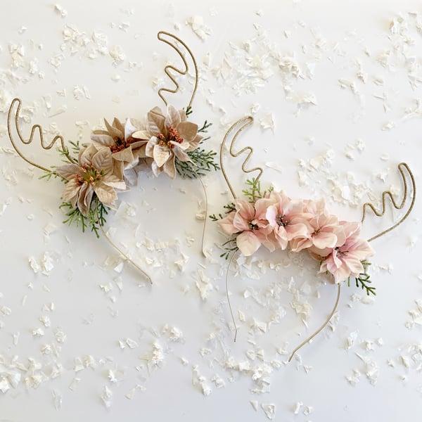 Image of Floral Antlers Pastel