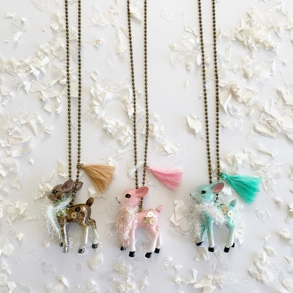 Image of Vintage Deer Necklace