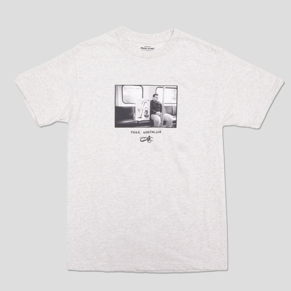 Image of Sam Stephenson 'Fake Nostalgia' Grey T-shirt