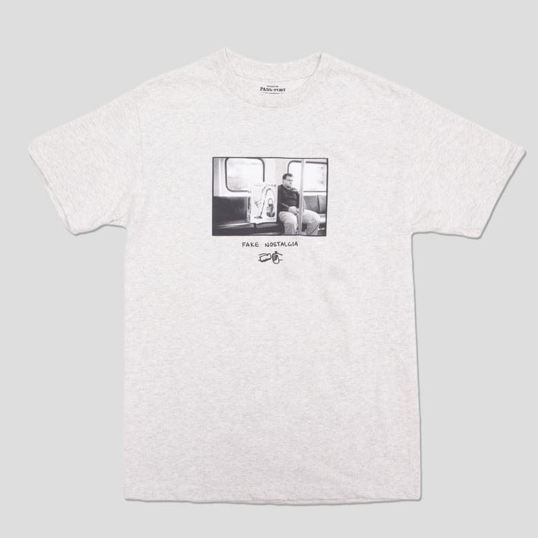 Image of Sam Stephenson 'Fake Nostalgia' Grey T-shirt