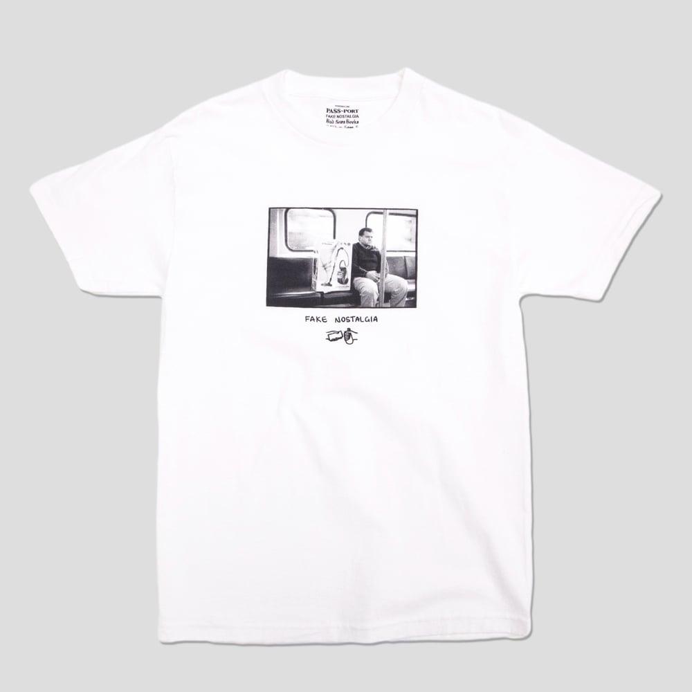 Image of Sam Stephenson 'Fake Nostalgia' White T-shirt