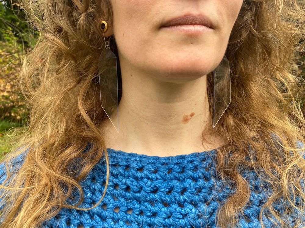Image of clear earrings