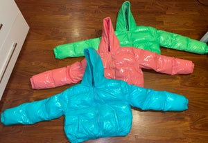 Image of Colored Bubble Jackets W/Hood